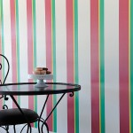 Detailed stripe painting - commercial interior