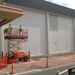 Extensive exterior commercial work