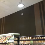 Commercial interior repaint - detailed stripe painting
