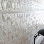 Pressed metal paint finish - commercial interior