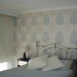 Residential repaint & festure wallpapering